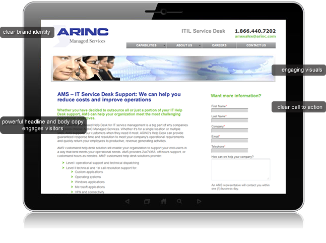 Landing Pages Designed for Marketing Campaigns