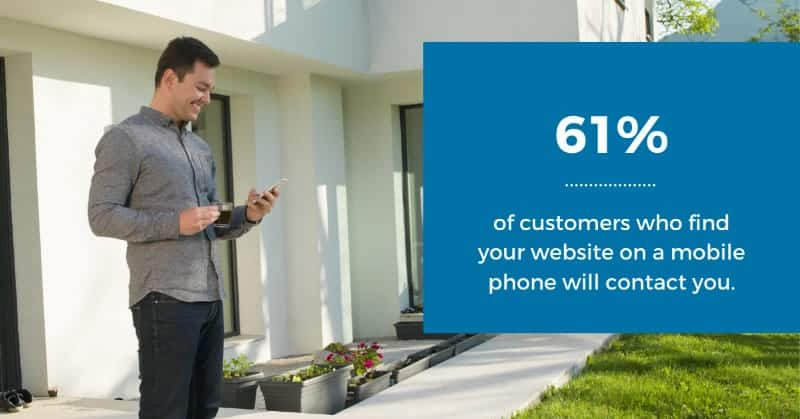 61% of mobile users will contact you