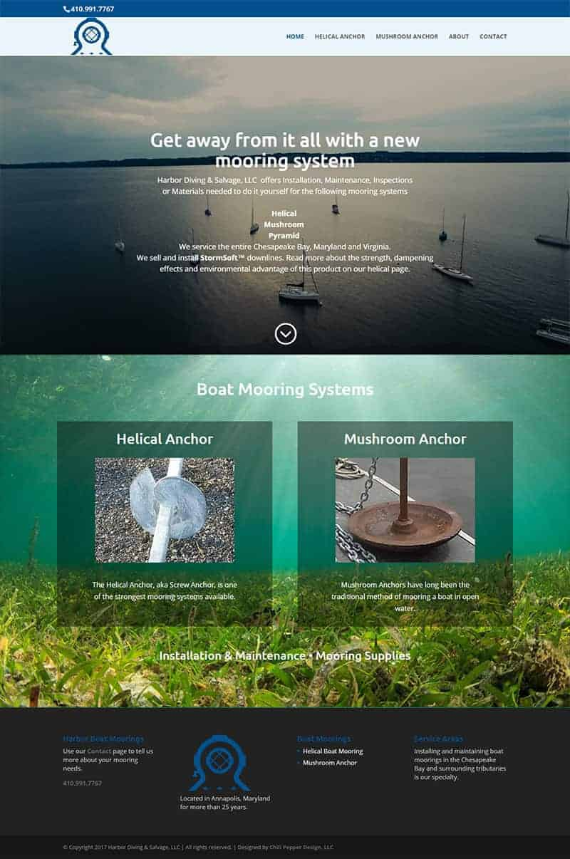 boat moorings website design