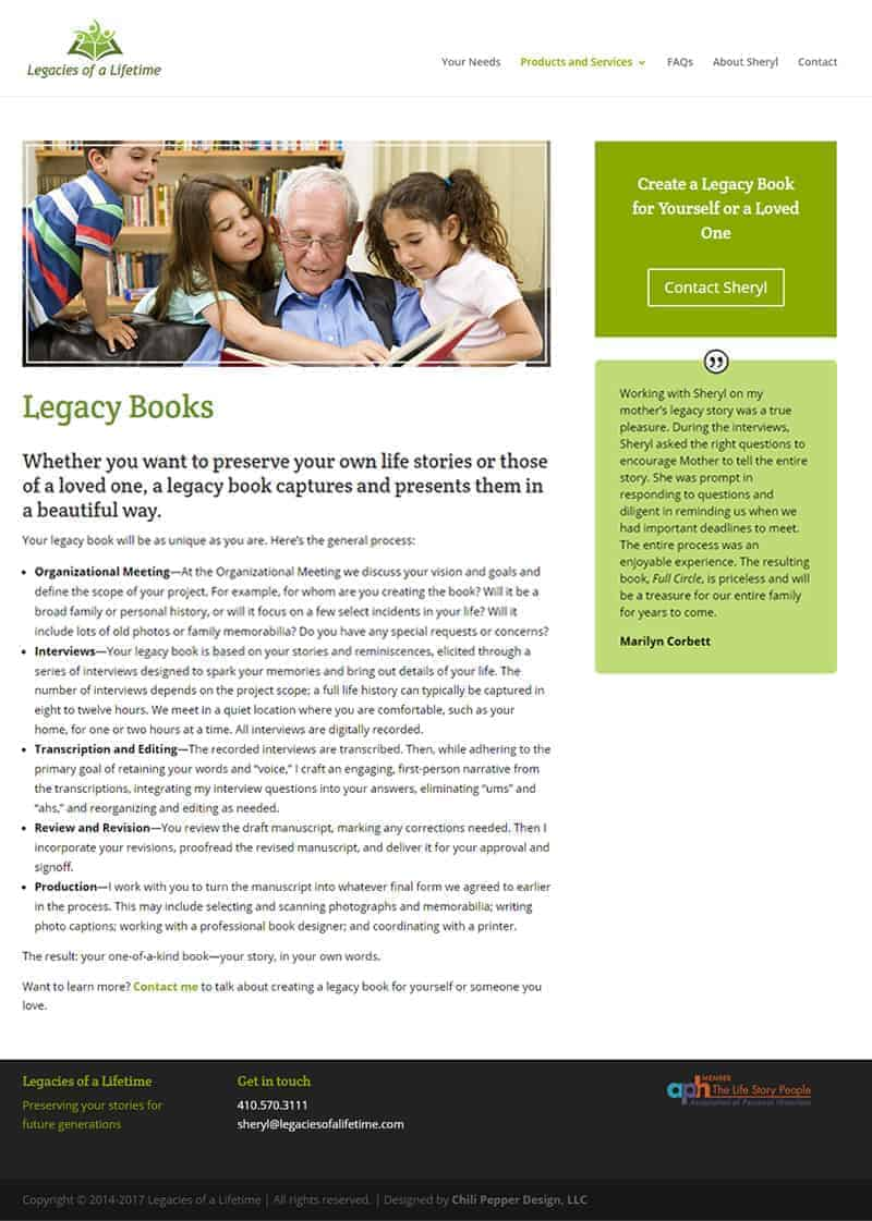 family historian website design
